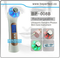 BP-008 2014 new beauty products for Ultrosonic and galvanicled phototherapy skin rejuvenation beauty machine