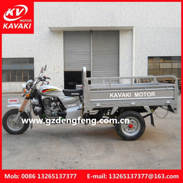 2015 Hot Sale Gasoline cargo tricycle popular van cargo tricycle with cabin