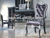 2014 Divany european injection moulding furnitures plastic chair solid wood dining chair BA-2705-B