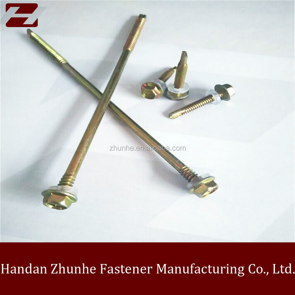 wholesale manufacturring Hex flange head Self drilling Drill tail screw and cork screw