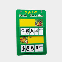 Plastic Fruit And Vegetable Prices Display Board