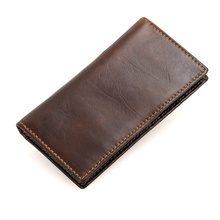 R-8119Q JMD High Quality Real Cow Leather Coffee RFID Blocking <strong>Wallet</strong> For Protect Credit Card, Card Case