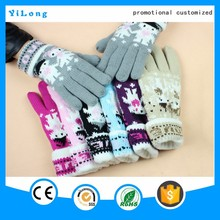 new design cartoon Cotton Plush Cartoon Gloves china supplier warm very thick cartoon bear paw gloves