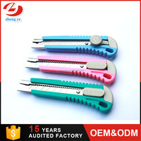 18mm paper box assisted safety rubber cutting hot utility knife