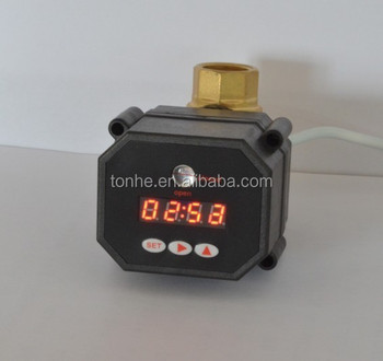 Tonhe auto controlled drain ball valve with timer