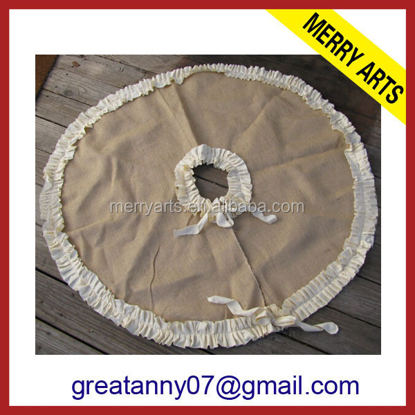 Yiwu Manufacturers Wholesale DIY Christmas tree Ruffle Skirt burlap