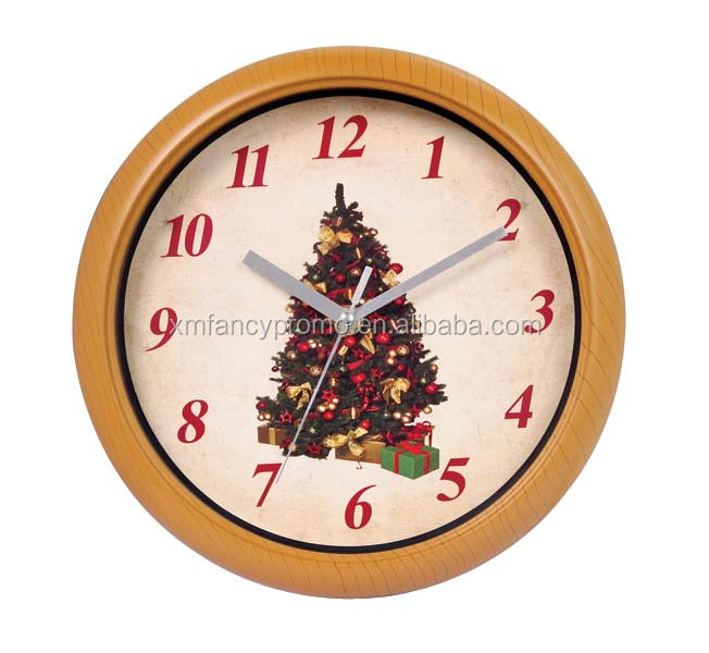 Wall Clock With Christmas Music