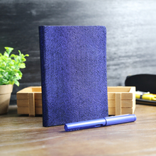 High quality suede cover blank notebook