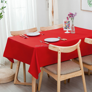Flat tablecloths decorative wedding table linen polyester table cloth six colors available