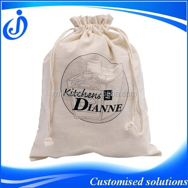Wholesale Custom Made Cotton Drawstring Shoes Bag