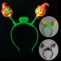 flashing halloween headband,light up pumpkin headband