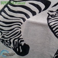 Rpet printed flannel fleece sustainable fabric