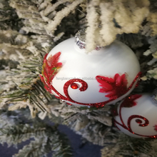 Top Quality Hand Painted White Base Red Design Color Christmas Ball christmas snowman lantern manufacturer