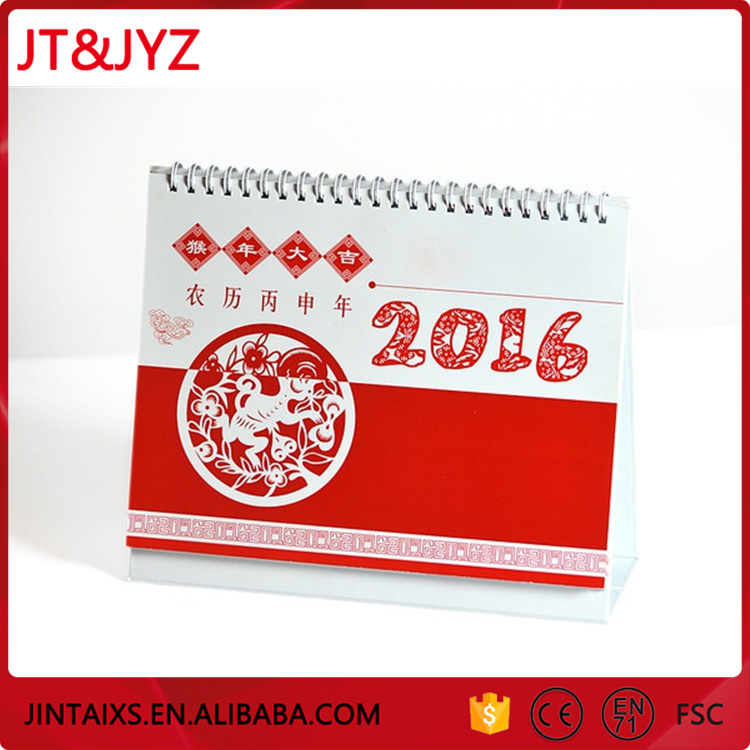 wholesale China cheap triangle wall desk calendar south china printing company