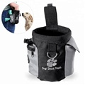 Dog Training Pouch With Poop Pocket Dispenser Food Treat Bag Hands Free Drawstring Carries for Pet Toys Kibble