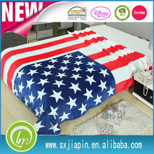 king size American UK flag printed blanket plush micro flannel fleece blanket throw
