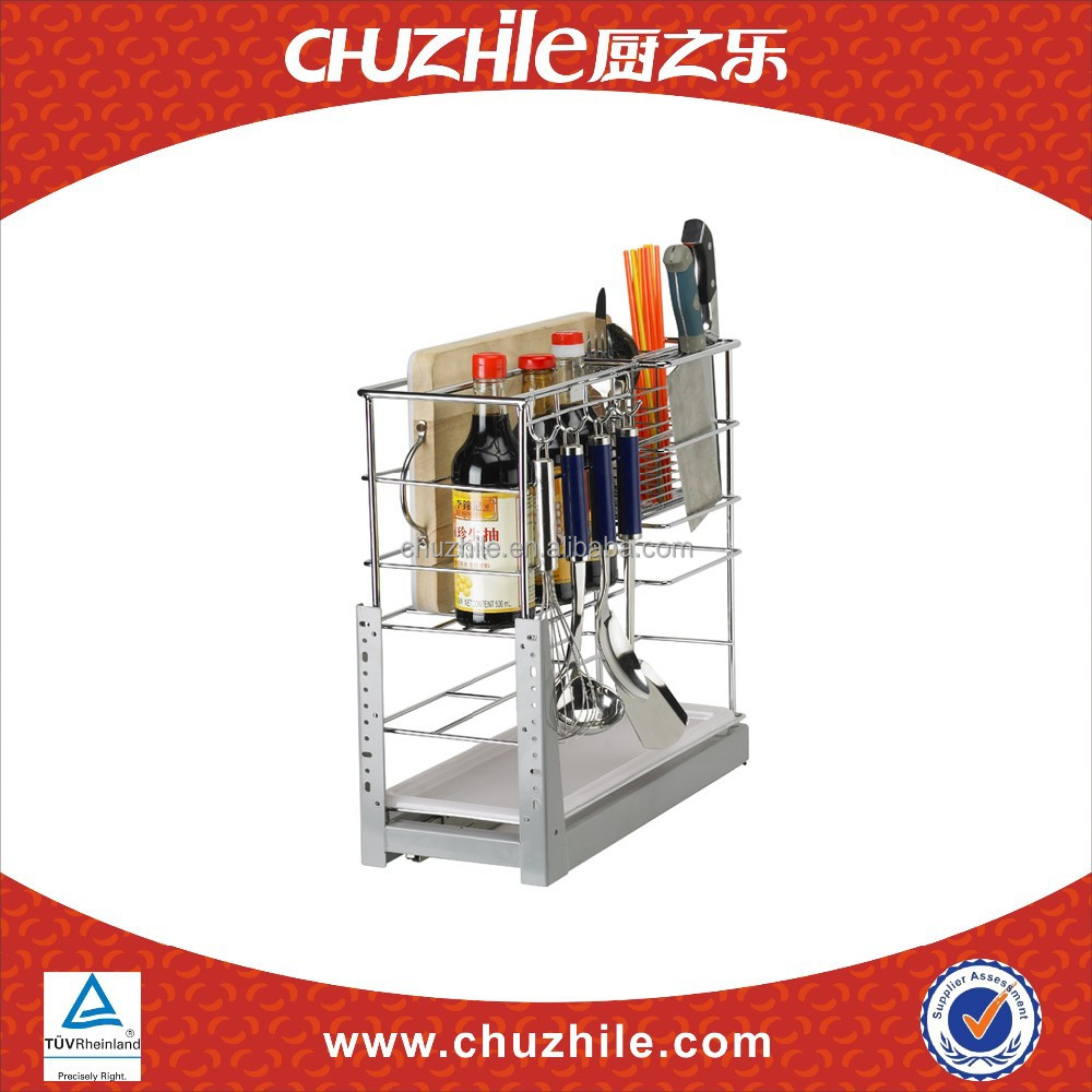 China kitchen accessories ChuZhiLe Oil and salt soy sauce vinegar sugar drawer basket rack manufacturer CH-003