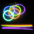 "100 8"" Premium Glow Stick Bracelets Party Pack"