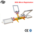 Desktop 4 color 2 station manual screen printing machine with micro registration