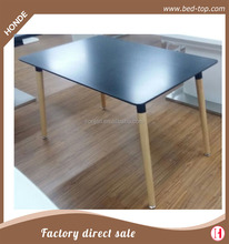 Modern black wood dining table set living room furniture
