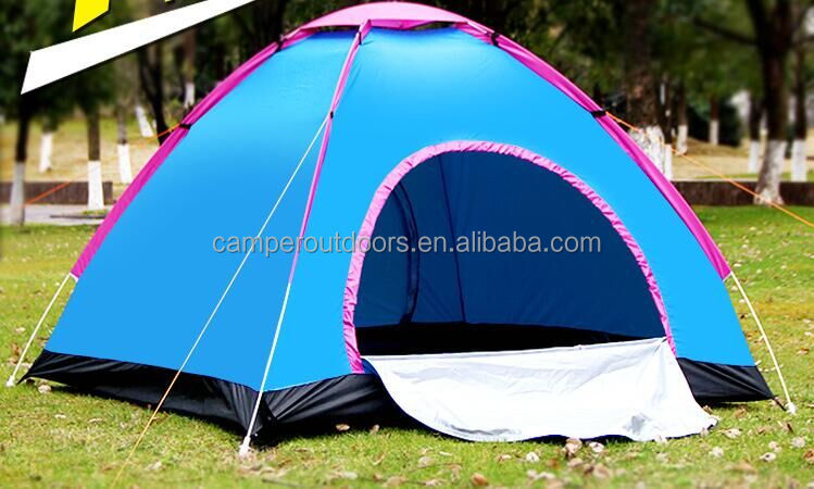 Foldable coated camping tent for 1-2 people