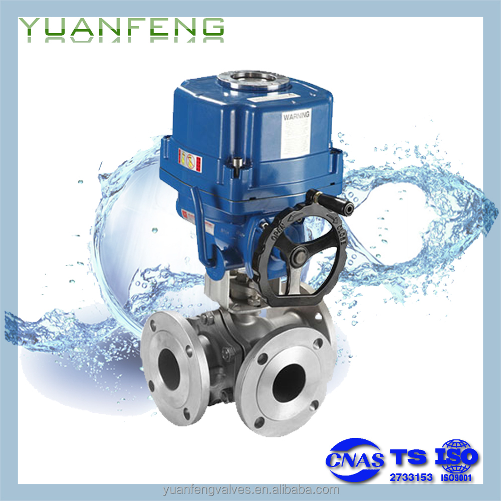 ZDQR REGULATOR Electric Shut Off 3-way Ball Valve
