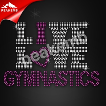 Gymnastics Rhinestone Design For Custom Bling Sportswear