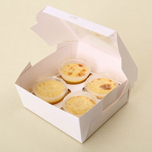 Luxury printed cupcake box with transparent window