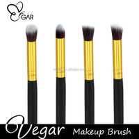 essential cosmetic brushes private label black gold color make up eyeshadow eyebrow nose shadow brush 4pcs