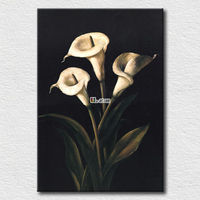 White flowers reproductions large decorative wall hangings
