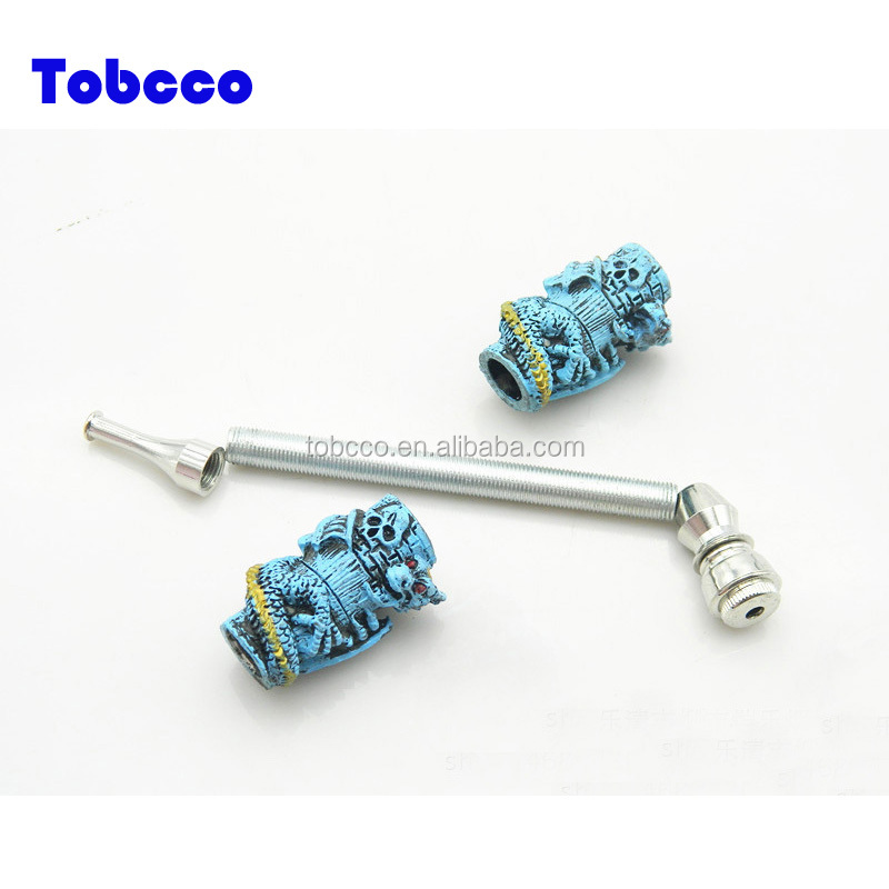 Chinese Manufacture Smoke Brass Animal Smoking Pipe Resin Tobacco Pipe