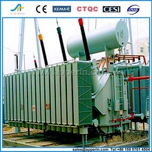 160 MVA 230 kv 3 phase oil immersed toroidal winding power transformer