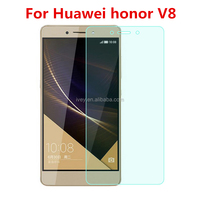 2016 New Arrival 0.25MM 9H Anti-explosion Tempered Glass Screen Protector Film For 5.7'' Huawei Honor V8 Smart Phone