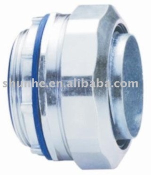 Zinc liquid tight connector,straight type.