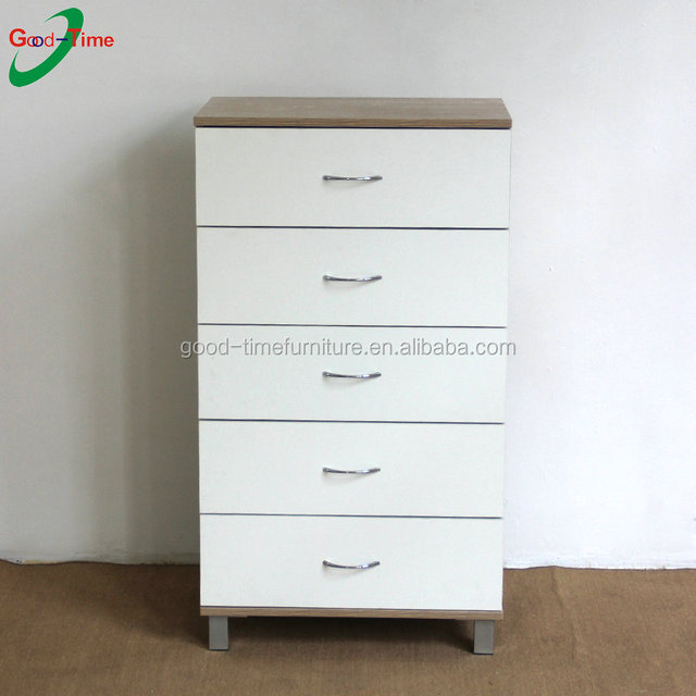 modern design 5 drawers wooden chest of drawers