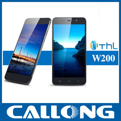 "Original THL W200 MTK6589 Quad Core Dual sim Mobile Phone 5.0"" HD Screen 1GB /8GB 8MP android"