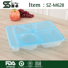 Disposable thickened lunch boxes a bowl of rectangular plastic fast food box packaged dishes wholesale