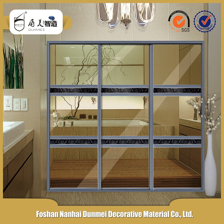 Decorative exterior cheap aluminium bathroom sliding glass for Cheap sliding glass doors