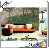 Good feature best choice interior 3d oil painting design wall murals