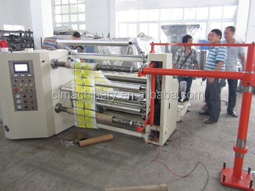 High-speed Horizontal Paper and Film Slitter and Rewinder