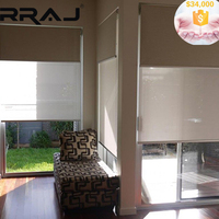 RRAJ Motorized Fabric Double Sided Roller Blinds