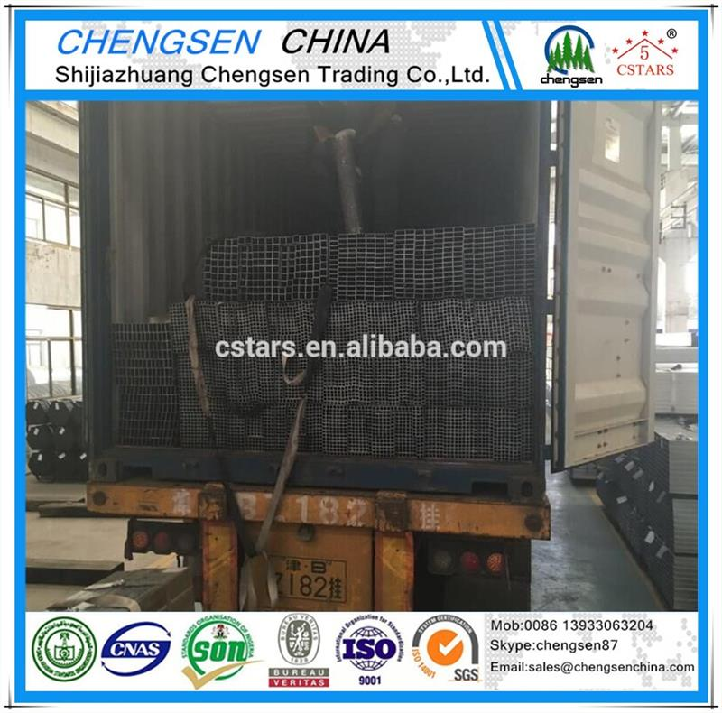 Hot selling 10x10-600x600mm Q235 steel square tube with low price