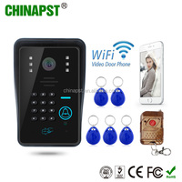 2017 China factory supplier Wireless wifi door bell camera rain-proof cover motion detect alarm Access Control PST-WIFI002IDS