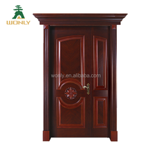 American interior black walnut flush white solid wood door