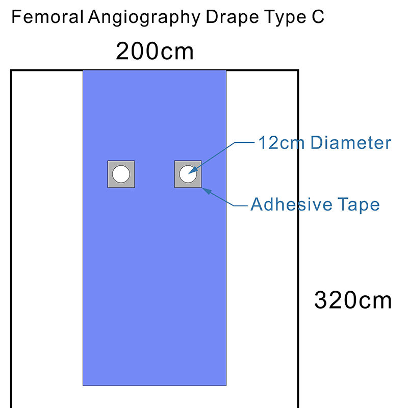 Sterile Femoral Angiography Drape Type C