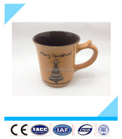 Fancy china bulk ceramic mug with handle, cute and cheap Merry Christmas cups