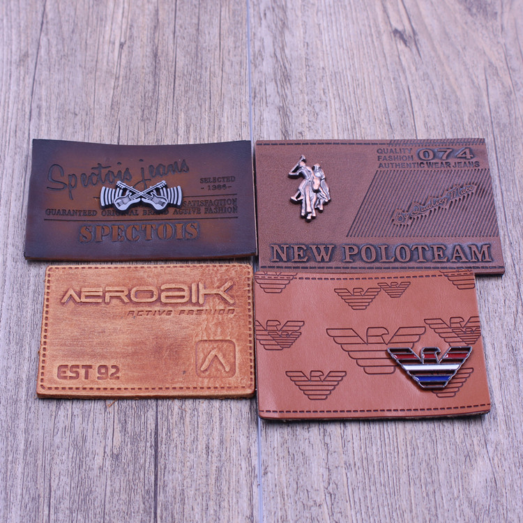 China factory Custom new jeans leather patches for