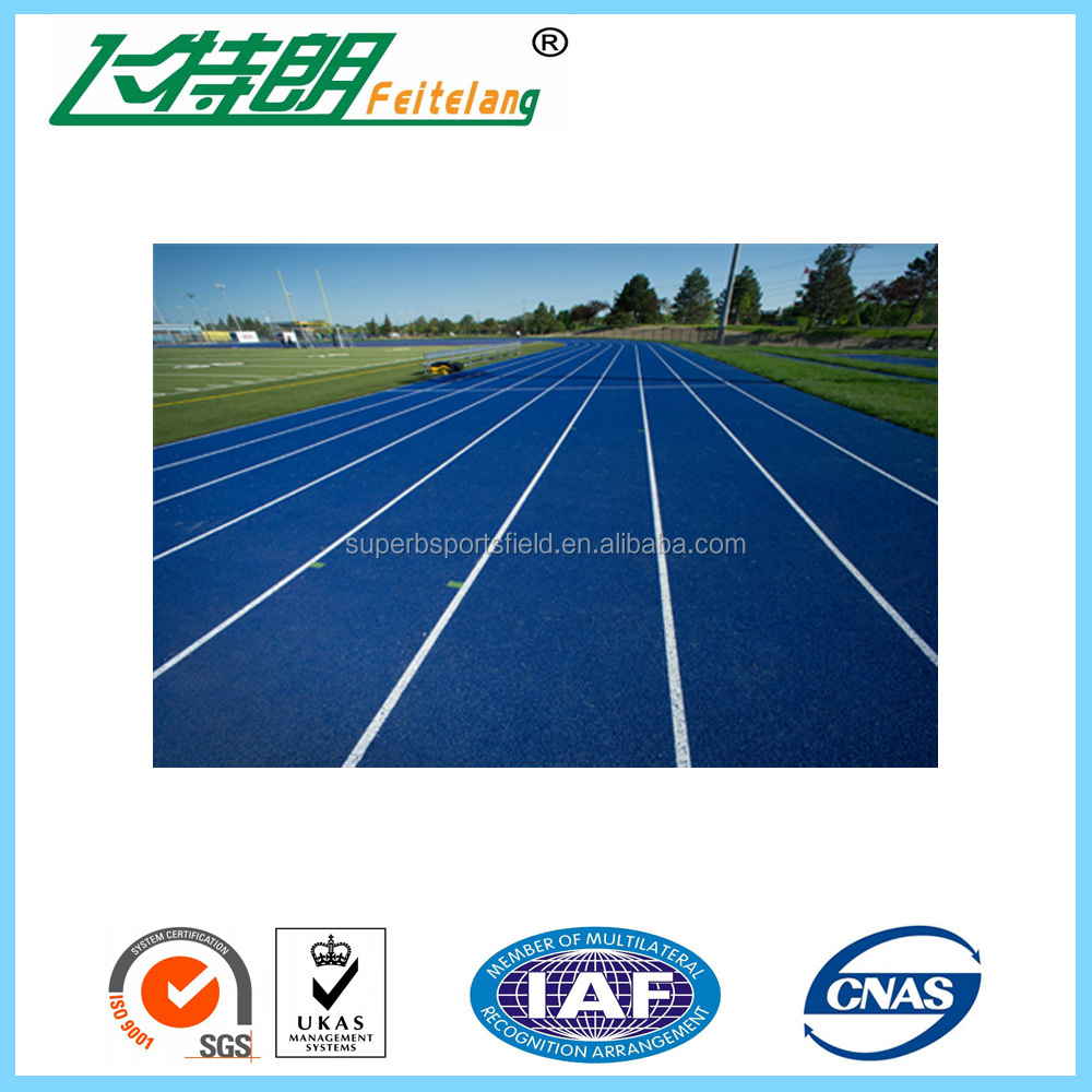 athletic Sandwich System Running Track for 13mm All Weather Sport Surface