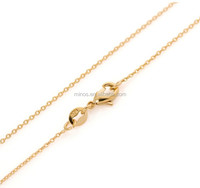 High Quality Classic 20In Round Rolo Links Gold Chain 18k Gold Filled Women Necklace Chain