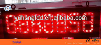 "6"" 8:88:88:88 Double Sided Red Outdoor Large LED Countdown Timer"